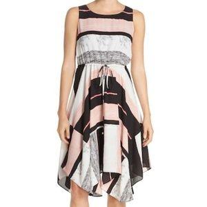 NWT Ivanka Trump Pink Asymmetrical Chiffon Dress 6